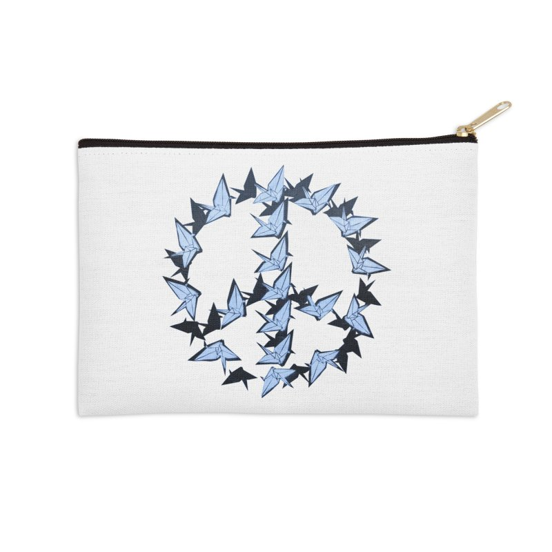 Birds of Peace Accessories Zip Pouch by Jenna YoNa Bloom's Artist Shop