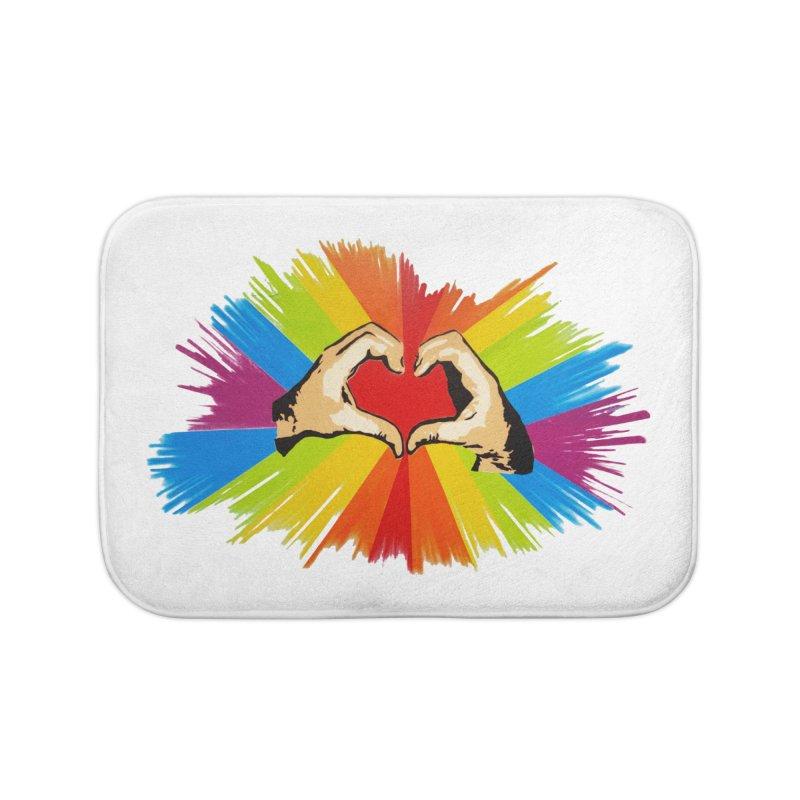 #loveislove Home Bath Mat by Jenna YoNa Bloom's Artist Shop