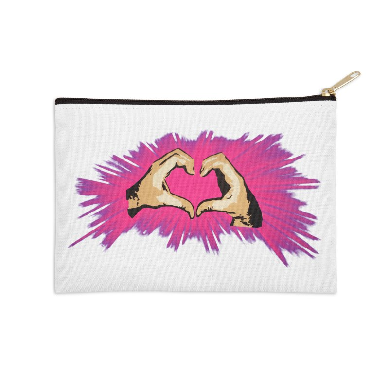 Spread the love Accessories Zip Pouch by Jenna YoNa Bloom's Artist Shop