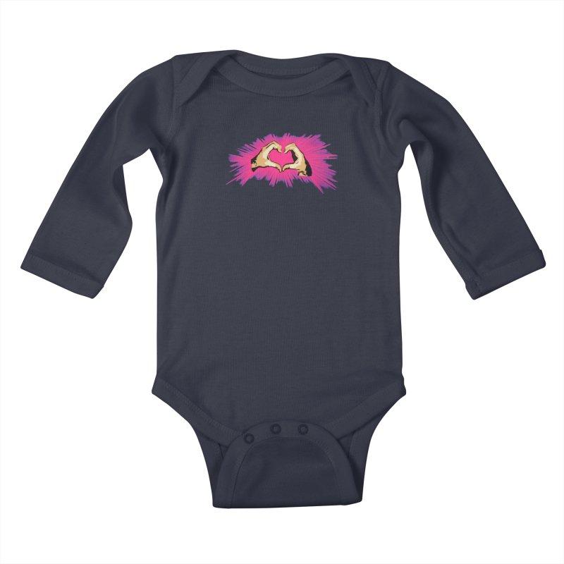 Spread the love Kids Baby Longsleeve Bodysuit by Jenna YoNa Bloom's Artist Shop