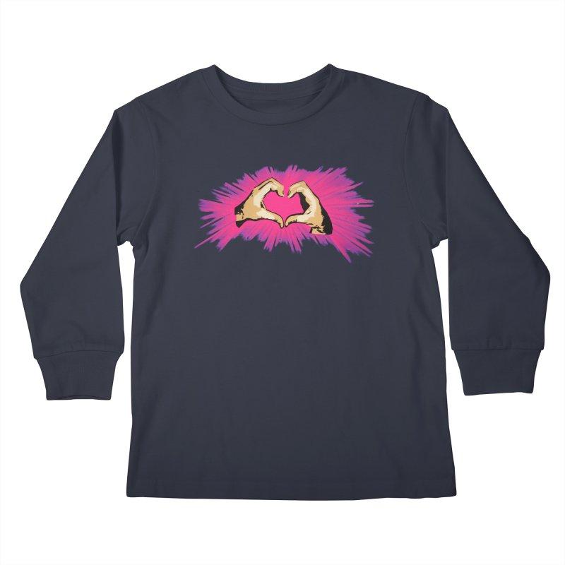 Spread the love Kids Longsleeve T-Shirt by Jenna YoNa Bloom's Artist Shop