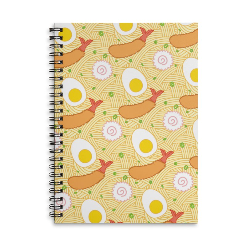 Endless Ramen Accessories Lined Spiral Notebook by Jenni Does Art