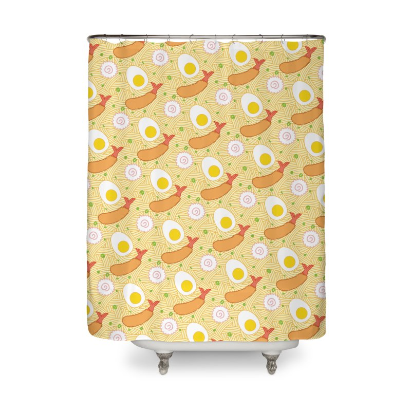 Endless Ramen Home Shower Curtain by Jenni Does Art