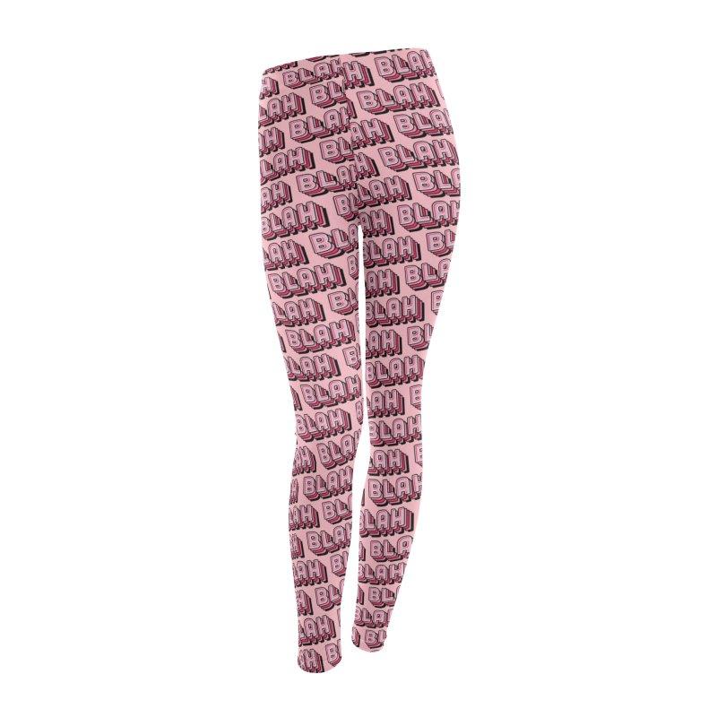 Blah Blah Blah Women's Leggings Bottoms by Jenni Does Art