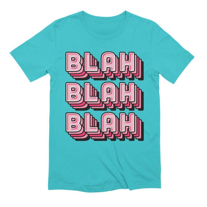 Blah Blah Blah Men's Extra Soft T-Shirt by Jenni Does Art