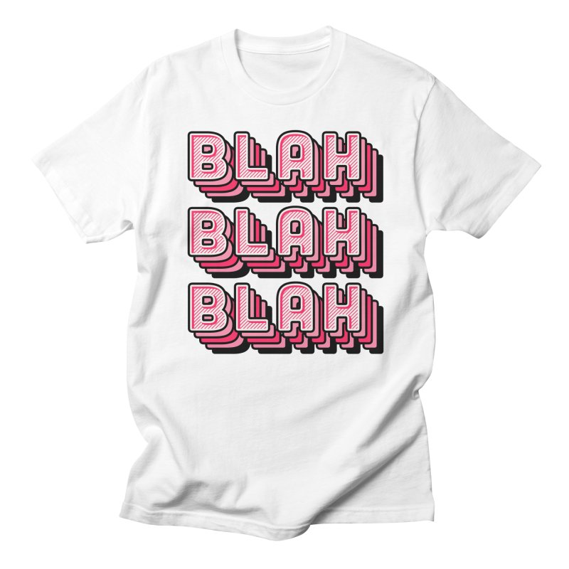 Blah Blah Blah Men's Regular T-Shirt by Jenni Does Art