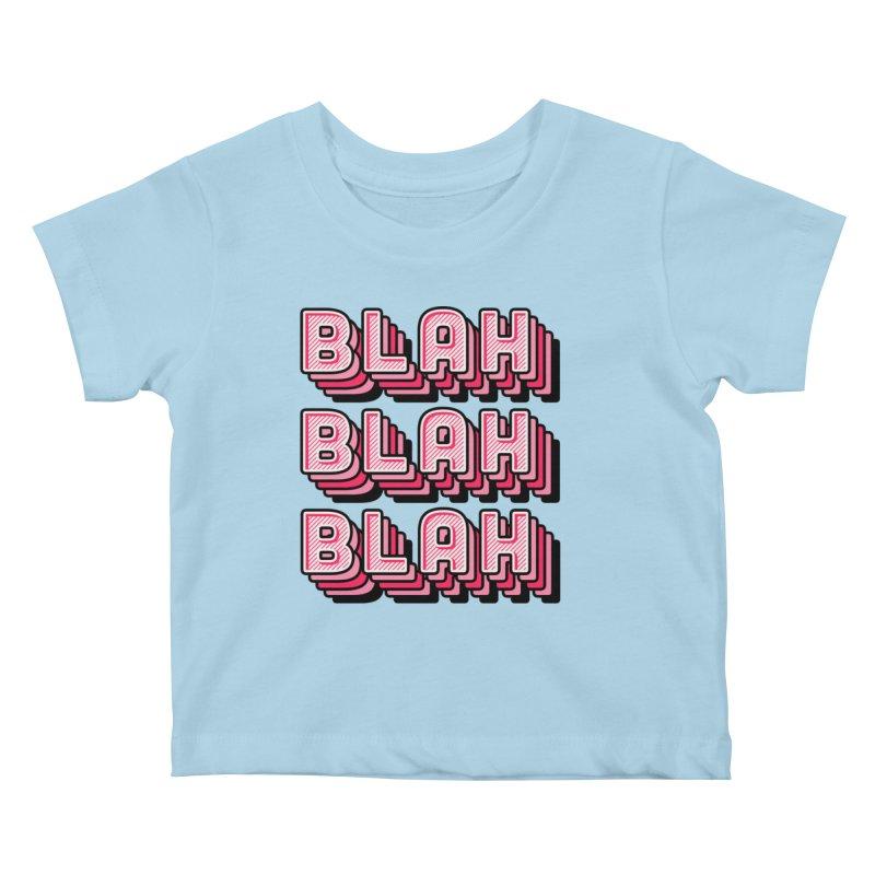 Blah Blah Blah Kids Baby T-Shirt by Jenni Does Art