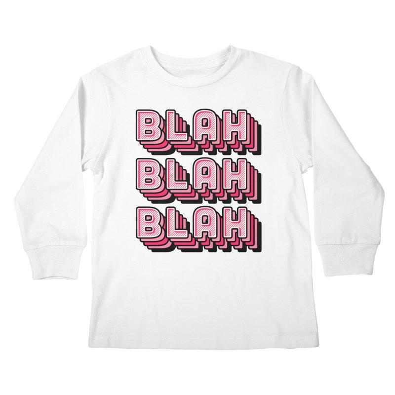 Blah Blah Blah Kids Longsleeve T-Shirt by Jenni Does Art