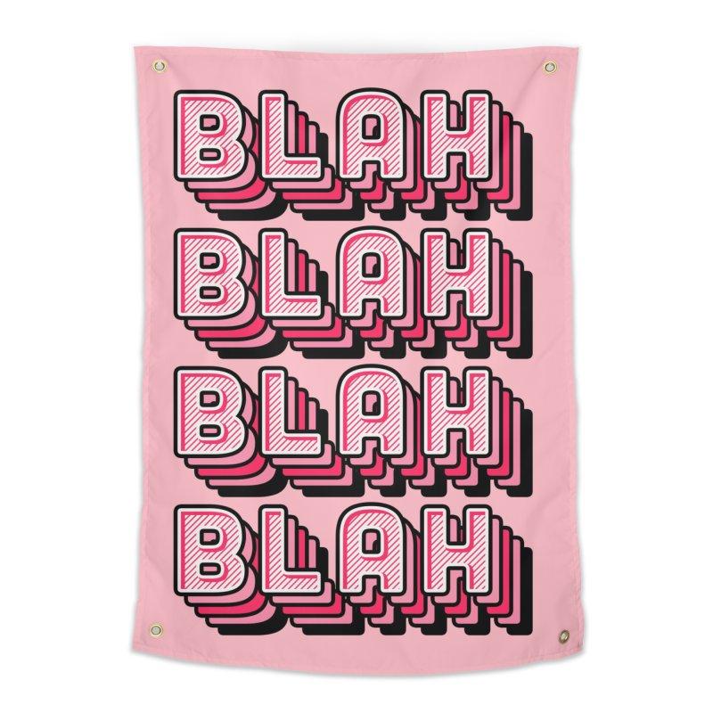 Blah Blah Blah Home Tapestry by Jenni Does Art