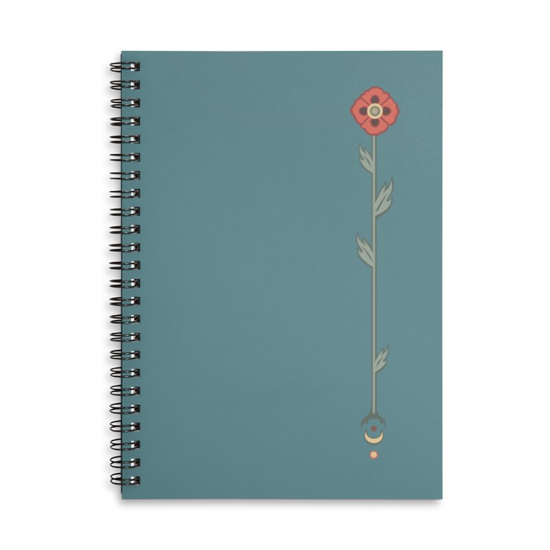 Celestial Poppy in Lined Spiral Notebook by Supersticery Shop