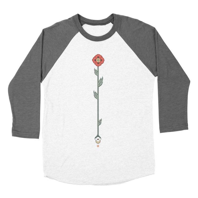 Celestial Poppy Women's Baseball Triblend Longsleeve T-Shirt by Supersticery Shop