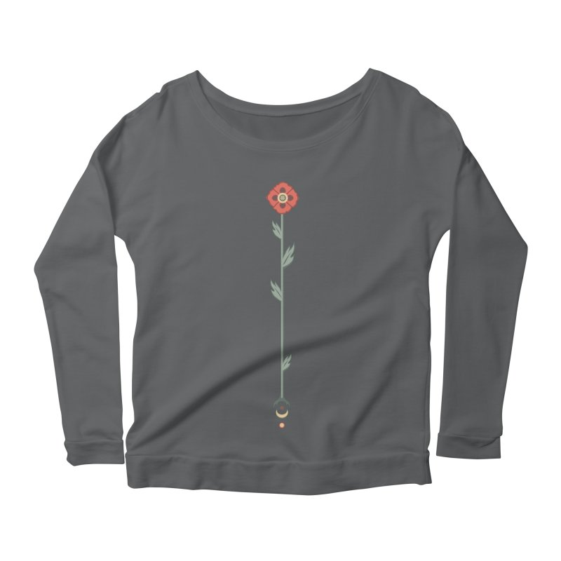 Celestial Poppy Women's Longsleeve Scoopneck  by Supersticery Shop