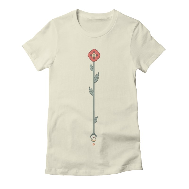 Celestial Poppy Women's Fitted T-Shirt by Supersticery Shop