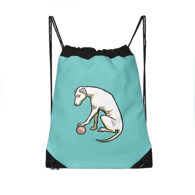the Hound Accessories Drawstring Bag Bag by Supersticery Shop