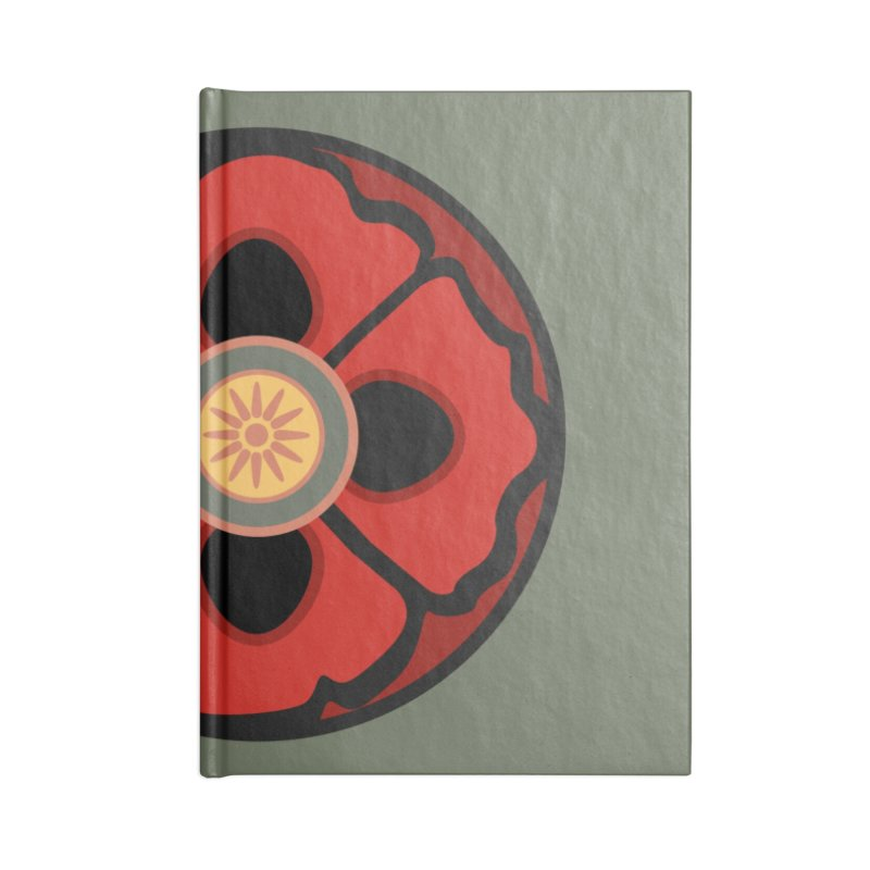 Iconic Poppy Accessories Lined Journal Notebook by Supersticery Shop
