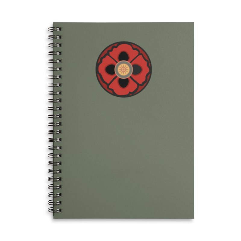 Iconic Poppy Accessories Lined Spiral Notebook by Supersticery Shop