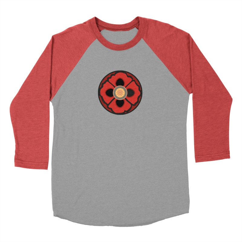 Iconic Poppy in Women's Baseball Triblend Longsleeve T-Shirt Chili Red Sleeves by Supersticery Shop