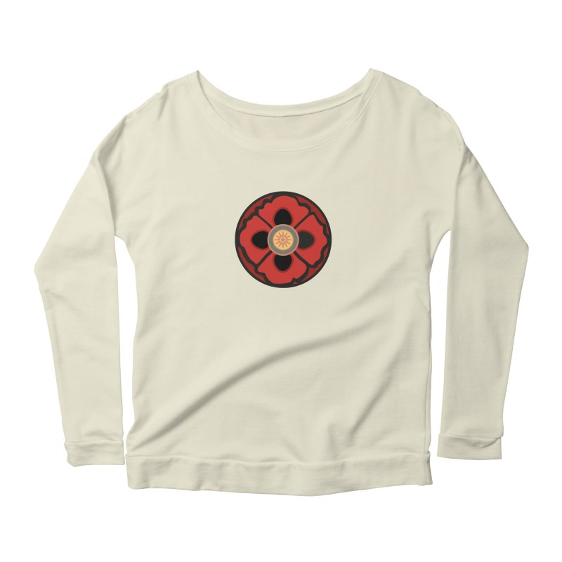 Iconic Poppy Women's Longsleeve Scoopneck  by Supersticery Shop