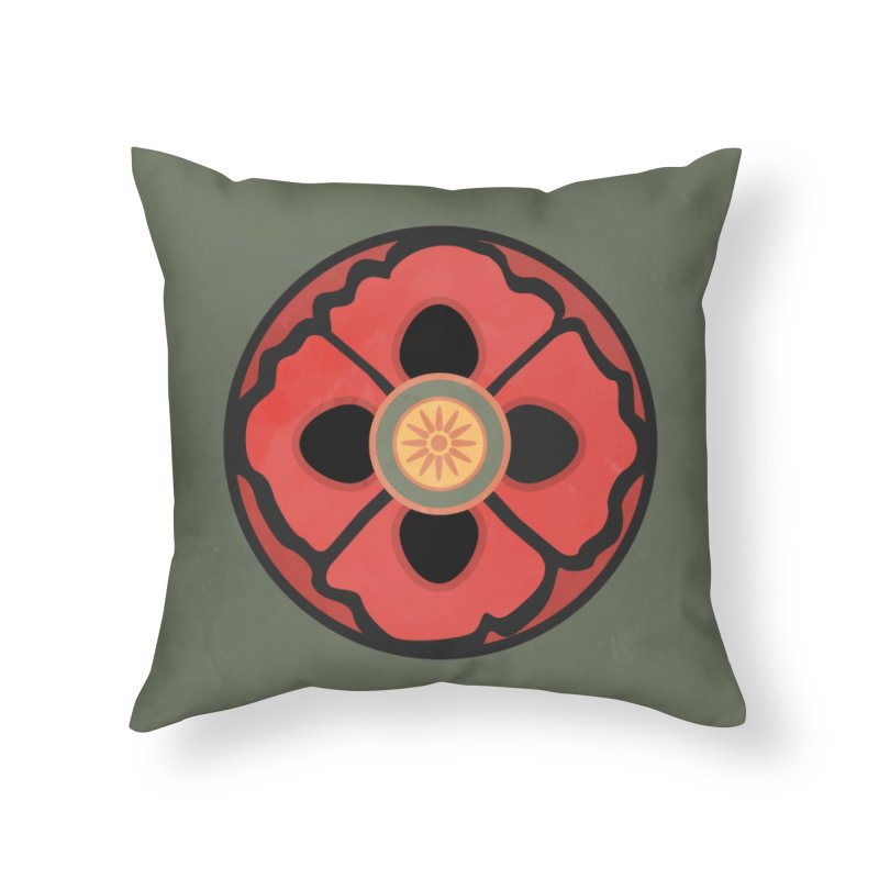 Iconic Poppy Home Throw Pillow by Supersticery Shop