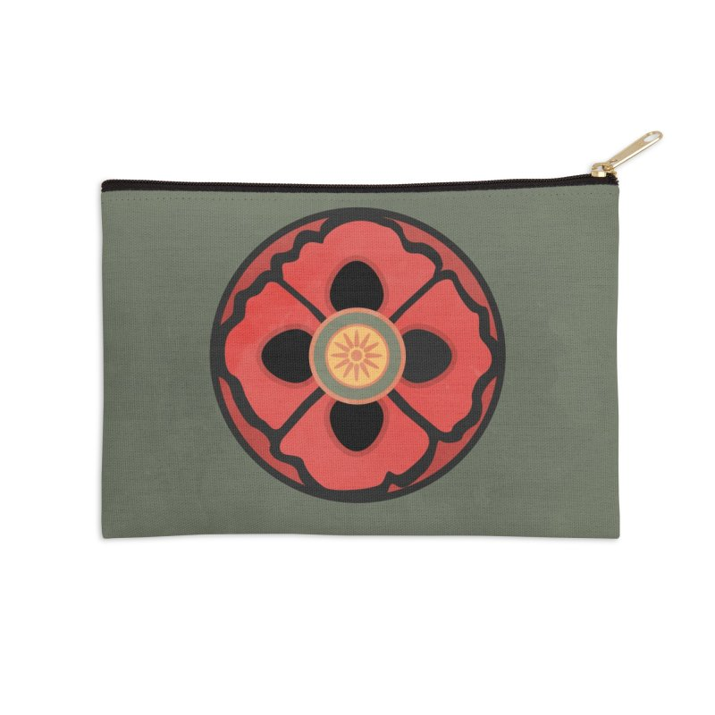 Iconic Poppy Accessories Zip Pouch by Supersticery Shop