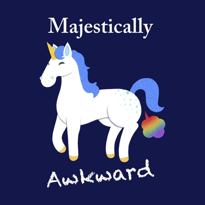 Majestically Awkward Unicorn Men's T-Shirt by Jenny Danko's Artist Shop