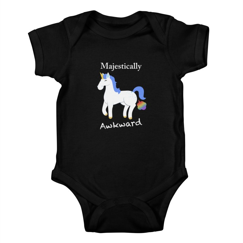 Majestically Awkward Unicorn Kids Baby Bodysuit by Jenny Danko's Artist Shop