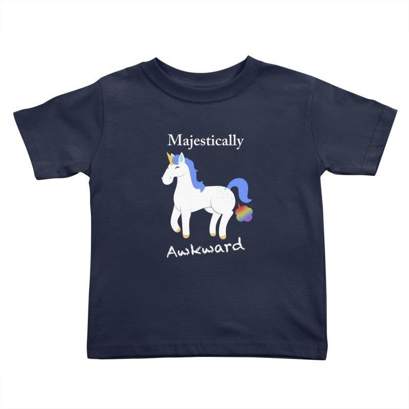 Majestically Awkward Unicorn Kids Toddler T-Shirt by Jenny Danko's Artist Shop