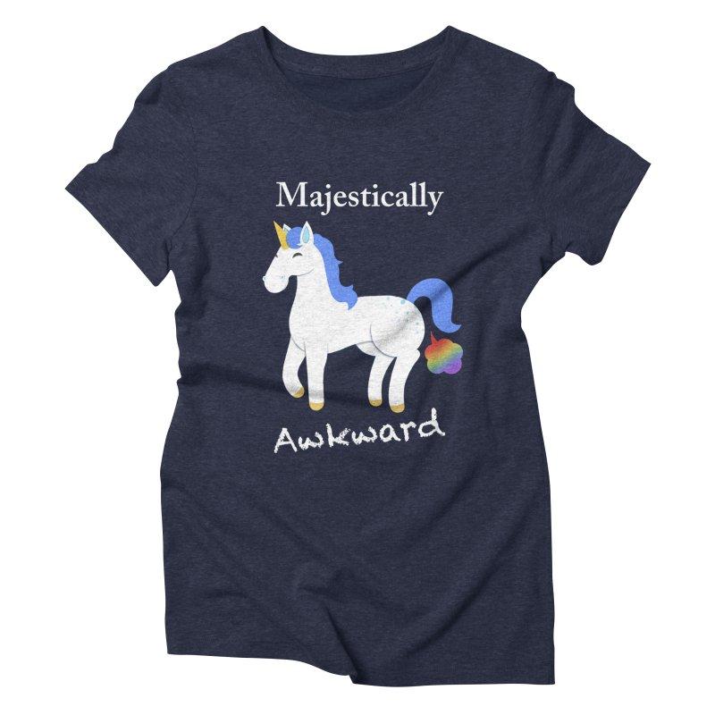 Majestically Awkward Unicorn Women's Triblend T-Shirt by Jenny Danko's Artist Shop