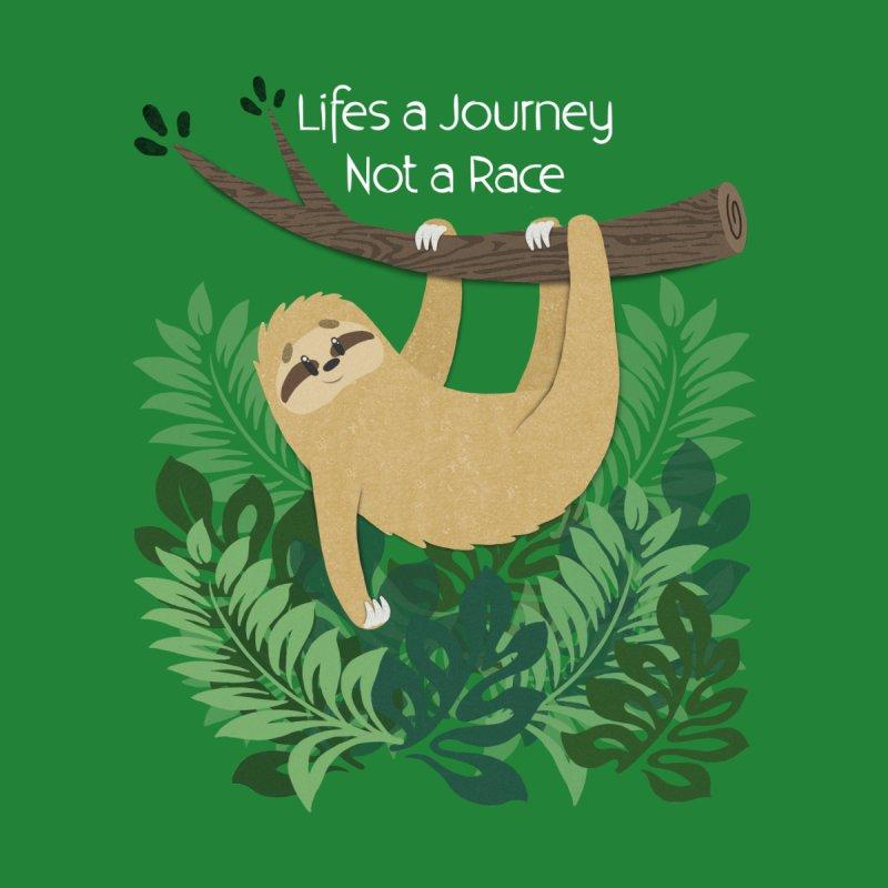 Life's a Journey Not a Race Sloth Men's T-Shirt by Jenny Danko's Artist Shop