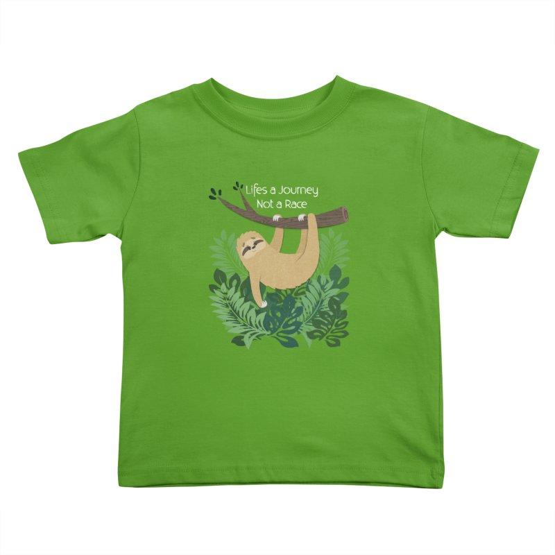 Life's a Journey Not a Race Sloth Kids Toddler T-Shirt by Jenny Danko's Artist Shop