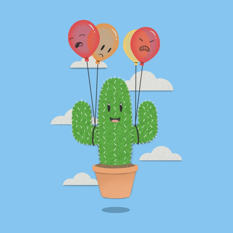 Cactus Hot Air Balloon   by Jenny Danko's Artist Shop