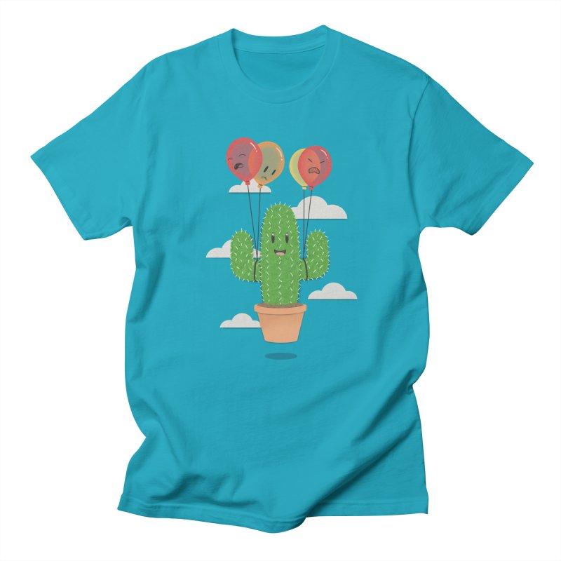 Cactus Hot Air Balloon Men's T-Shirt by Jenny Danko's Artist Shop