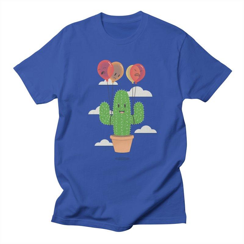 Cactus Hot Air Balloon Men's Regular T-Shirt by Jenny Danko's Artist Shop
