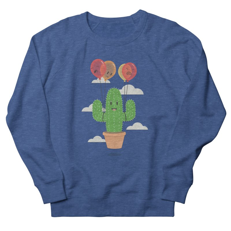 Cactus Hot Air Balloon Men's French Terry Sweatshirt by Jenny Danko's Artist Shop