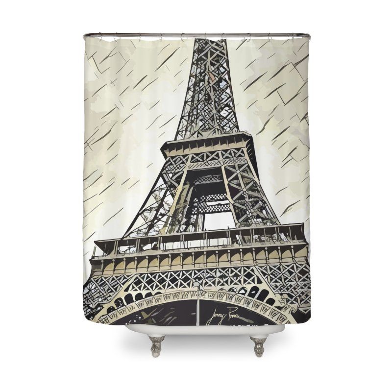 eiffel tower Home Shower Curtain by jennypivor's Artist Shop