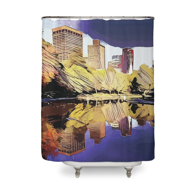 Frog Pond in the Fall Home Shower Curtain by jennypivor's Artist Shop