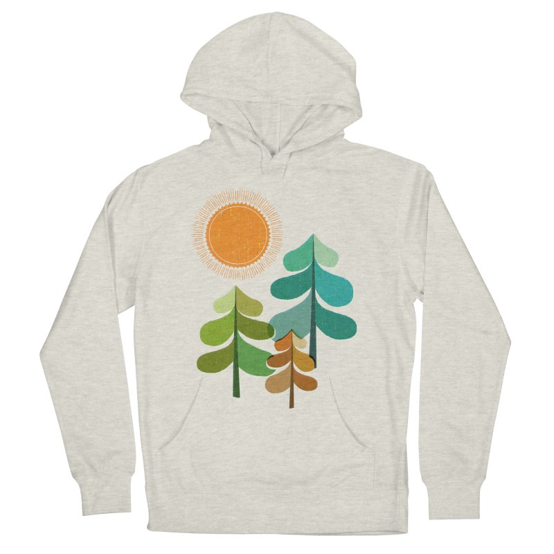 Golden Days Men's French Terry Pullover Hoody by Jenny Tiffany's Artist Shop