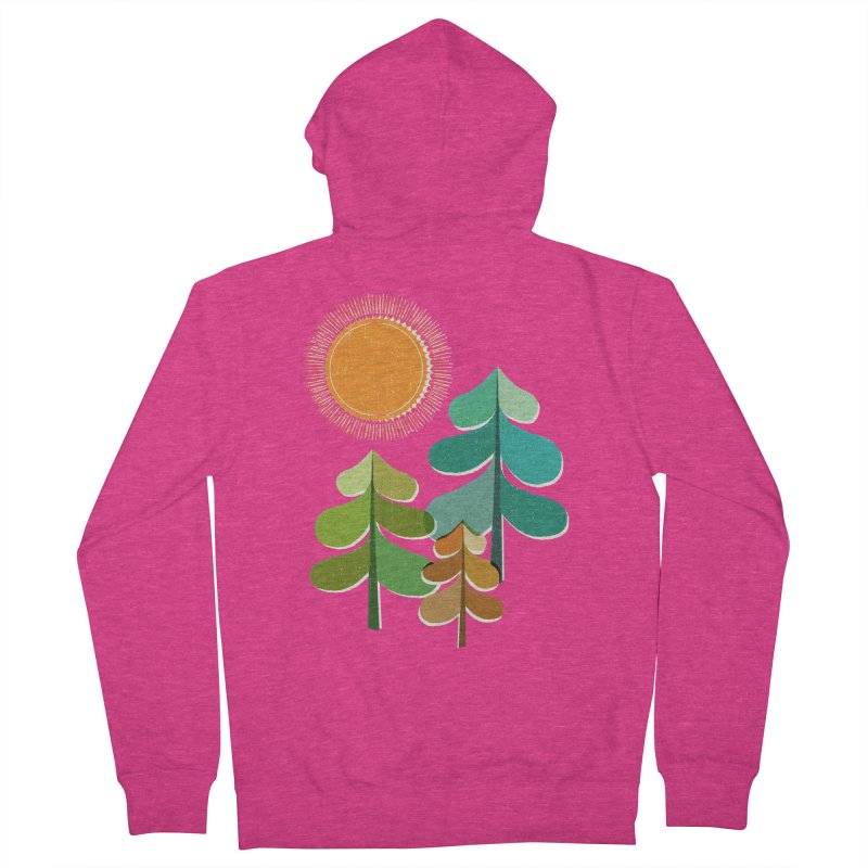 Golden Days Women's French Terry Zip-Up Hoody by Jenny Tiffany's Artist Shop