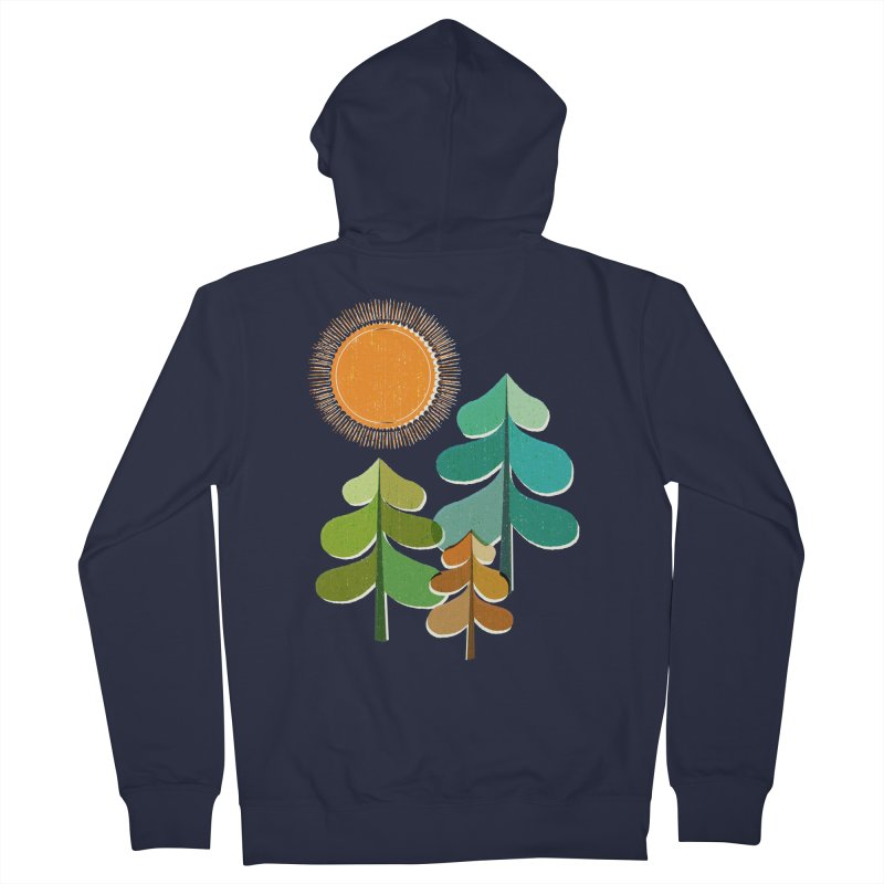 Golden Days Men's French Terry Zip-Up Hoody by Jenny Tiffany's Artist Shop
