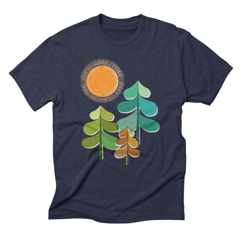 Golden Days Men's Triblend T-Shirt by Jenny Tiffany's Artist Shop