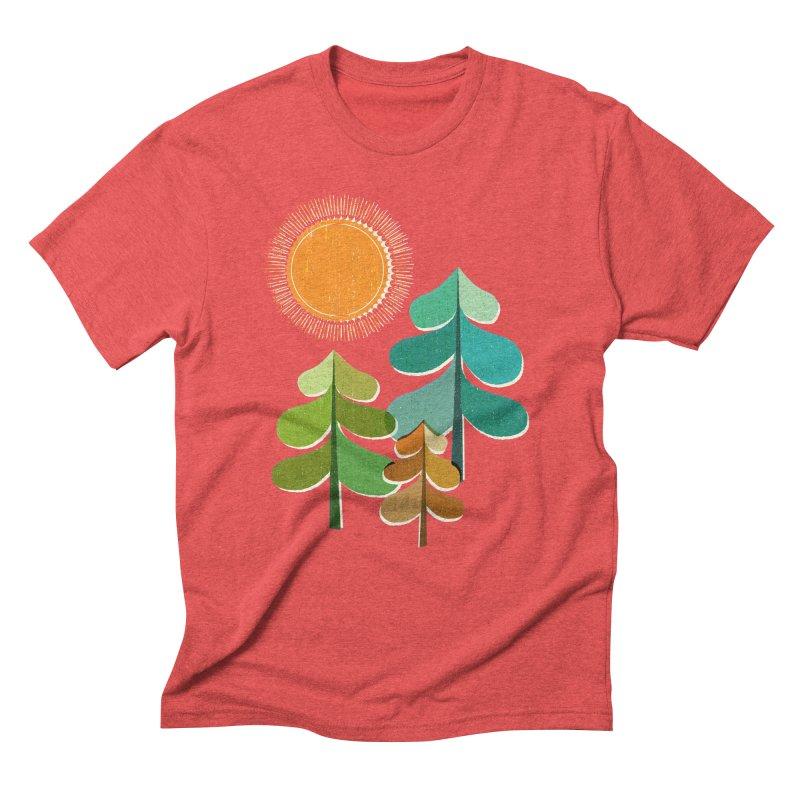 Golden Days Men's Triblend T-shirt by Jenny Tiffany's Artist Shop