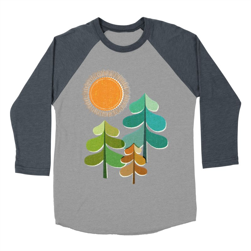 Golden Days Men's Baseball Triblend T-Shirt by Jenny Tiffany's Artist Shop
