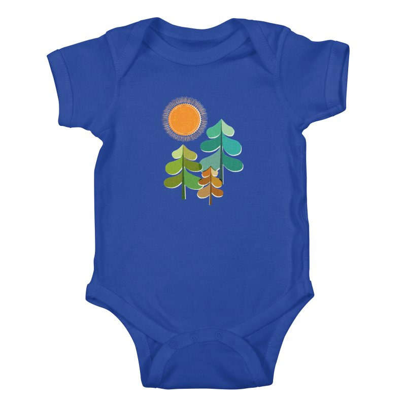 Golden Days Kids Baby Bodysuit by Jenny Tiffany's Artist Shop