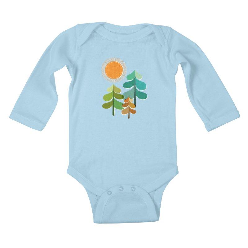 Golden Days Kids Baby Longsleeve Bodysuit by Jenny Tiffany's Artist Shop