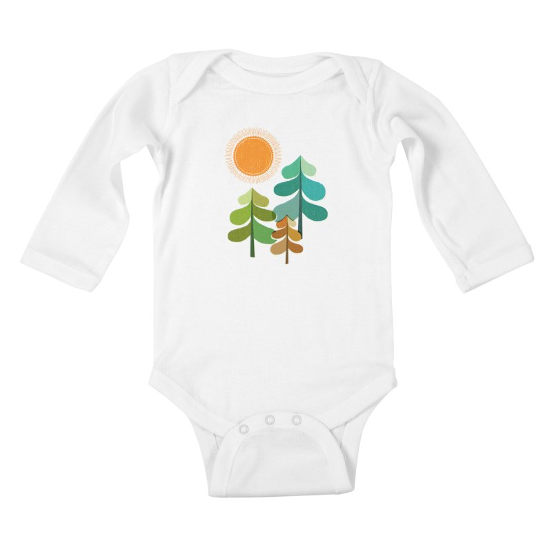 Golden Days Kids Baby Longsleeve Bodysuit by Jenny Tiffany's Artist Shop