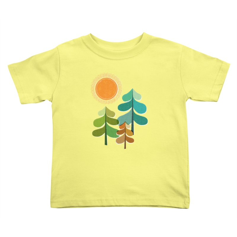 Golden Days Kids Toddler T-Shirt by Jenny Tiffany's Artist Shop