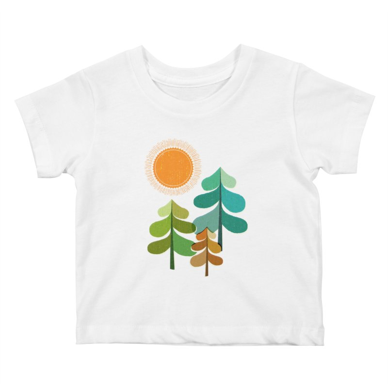 Golden Days Kids Baby T-Shirt by Jenny Tiffany's Artist Shop