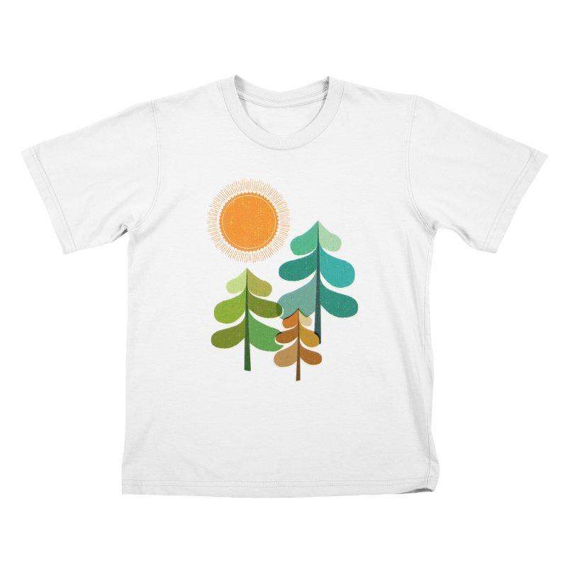 Golden Days Kids T-Shirt by Jenny Tiffany's Artist Shop