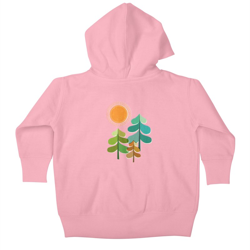 Golden Days Kids Baby Zip-Up Hoody by Jenny Tiffany's Artist Shop