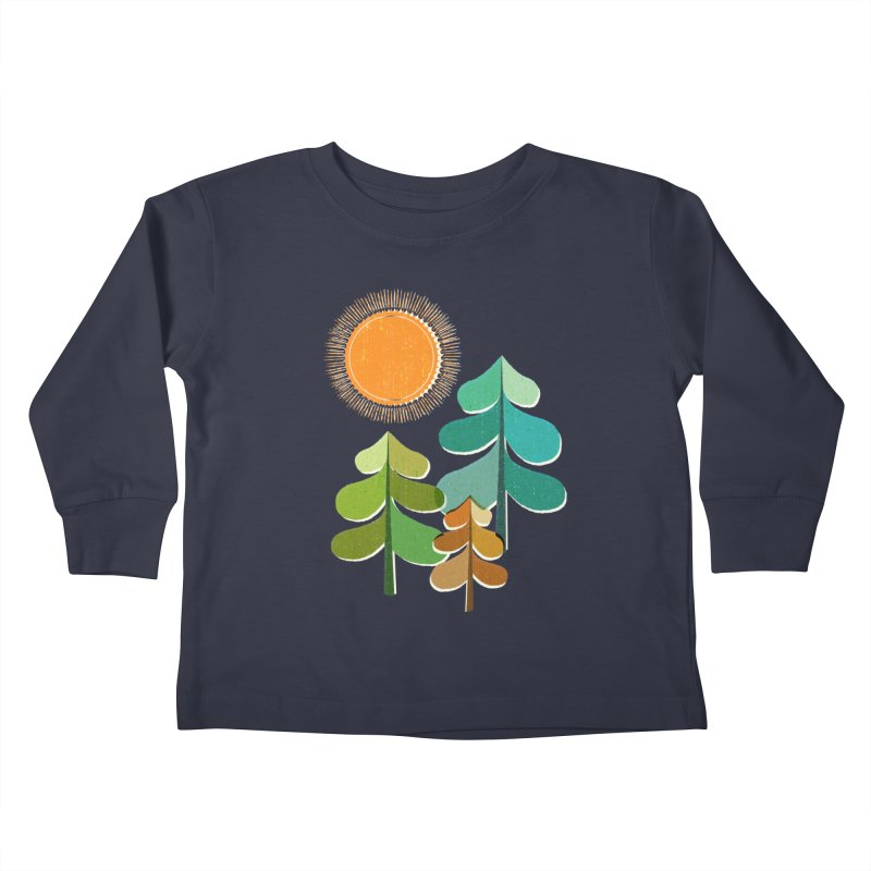 Golden Days Kids Toddler Longsleeve T-Shirt by Jenny Tiffany's Artist Shop
